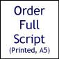 Printed Script (Pretzels For Dinner) A5