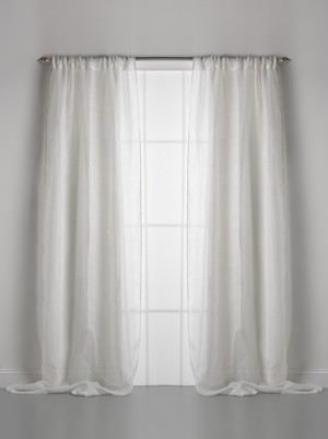Solid Linen Gauze Ivory Window Curtain