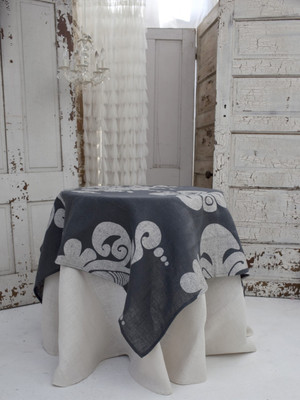 Enchantique Slate Grey Jute Table Topper