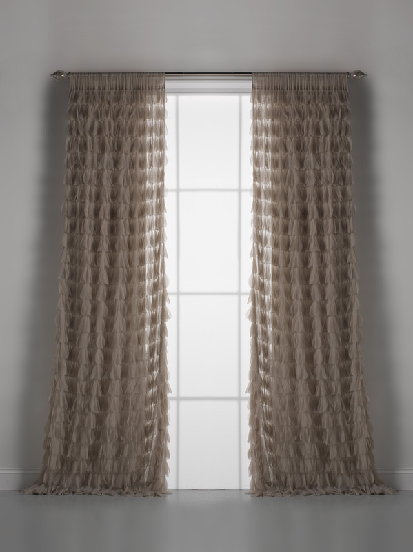 Couture Dreams Chichi Sable Petal Window Curtain Pair