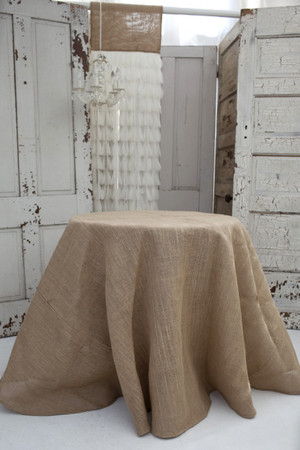 Solid Jute Natural Tablecloth