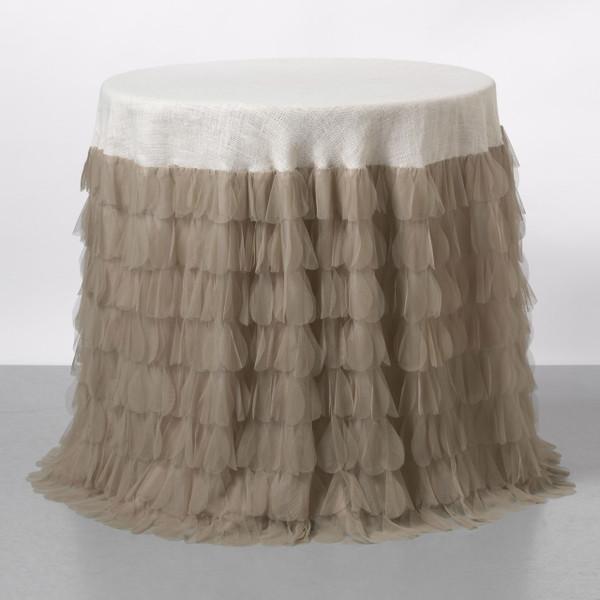 Chichi Sable Petal & Ivory Jute Tablecloth