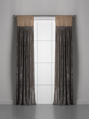 Couture Dreams Luscious Soft Earth Velvet Window Curtain Pair