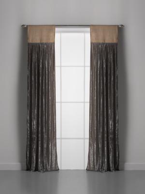 Couture Dreams Luscious Soft Earth Velvet Window Curtain Pair