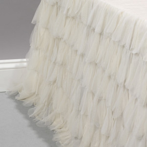 Chichi Ivory Petal Bed Skirt