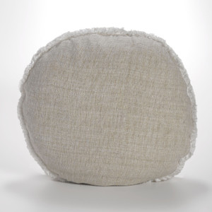 Couture Dreams Heavenly Silk Round Decorative Pillow