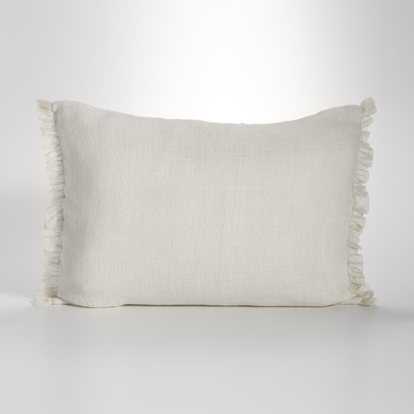 Couture Dreams Whisper Ivory Linen Sham