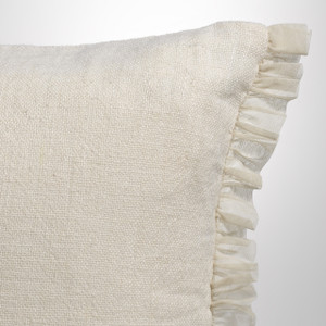 Couture Dreams Whisper Ivory Linen Sham Detail