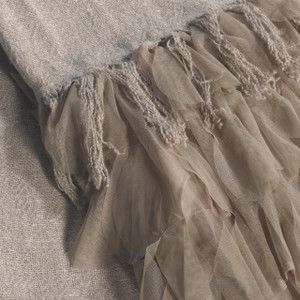 Couture Dreams Chichi Flax Linen Decorative Throw Detail
