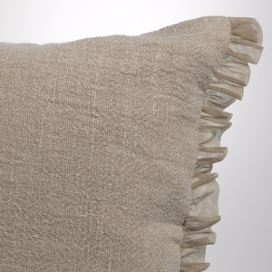Couture Dreams Whisper Flax Linen Standard Sham Detail