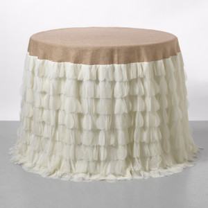 Chichi Ivory Petal & Natural Jute Tablecloth