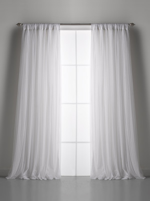Couture Dreams Whisper White Window Curtain (pair)