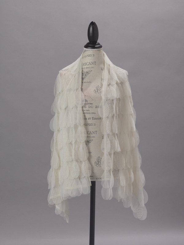 Couture Dreams Chichi Ivory Petal Scarf/Wrap