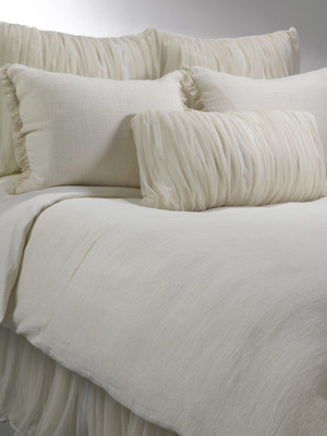Whisper Ivory Duvet, Whisper Ivory Shams, Whisper Ivory Euro Shams, Whisper Ivory Bed Skirt, Whisper Decorative Pillow