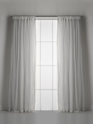 Couture Dreams Whisper Grey Window Curtain (pair)