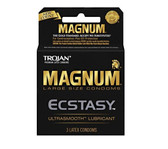 Trojan Magnum Ecstasy Lubricated Condoms 3 packs