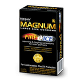 Trojan Magnum Fire & Ice Lubricated Condoms 10 packs