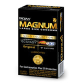 Trojan Magnum Gold Collection Lubricated Condoms 10 Packs
