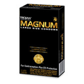 Trojan Magnum Large Lubricated Condoms 12 packs