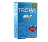 Trojan ENZ Armor Spermicidal Lubricated Condoms 12 packs