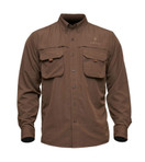 Adventure Shirt II Front Dark Brown