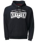 Kryptek Covert Men's Hoodie Black / White Front