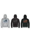 Flag Hoodie Grey Heather, Charcoal and Black Sketches