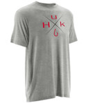 HUK X Mark Tee True Gray Heather
