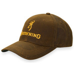 Browning Dura-Wax Cap Corporate Logo Solid Brown Front
