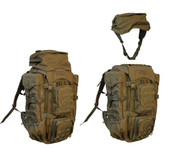 Eberlestock F4M Terminator pack includes removable fanny pack (shown in Dry Earth)