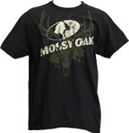 Mossy Oak Black/Green Skull Logo TShirt