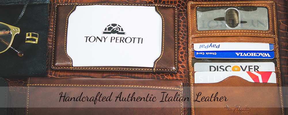 Tony Perotti Italian Leather Briefcases Wallets Luggage Bags