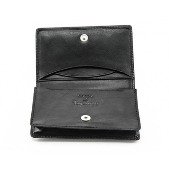 Business card wallet business card holder tony perotti italy prima business and credit card case wallet pg403001 open black reheart