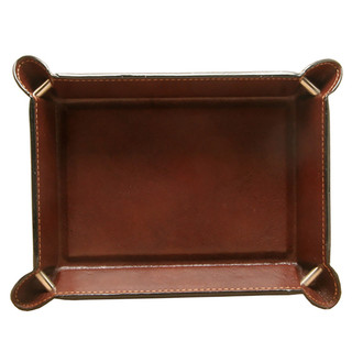 Ultimo Piccolo Leather Travel Tray PI601702 Cognac Inside