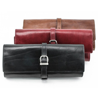 Ultimo Jewelry Roll PI621501 | Cognac, Red, Black