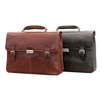Classic European Double Compartment Briefcase PG012005
