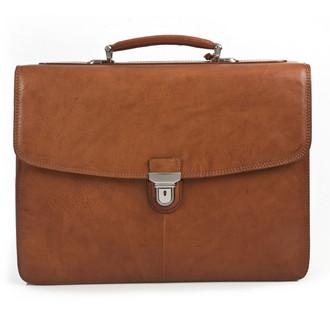 "Bella Russo 17"" Laptop Double Compartment Brief PG019701 | Honey"