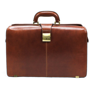 "Benevento 17"" Lawyer's Briefcase PI018002 Front Cognac"