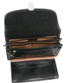 Veneto Horizontal Flap-Over Carry All Bag PI212001 Black Open