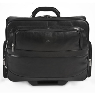 "Executive 17"" Wheeled Briefcase PG019902 Front Black"