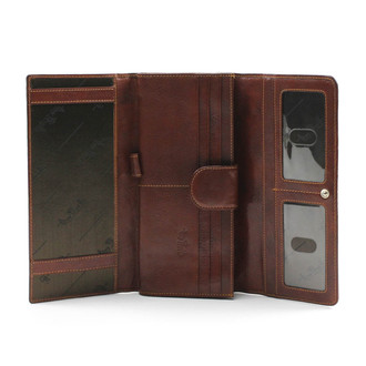 Ultimo Ladies Checkbook Wallet PI423101 | Open View | Cognac