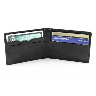 Ultimo Executive Front pocket Credit Card wallet PI413001 | Front Open | Black
