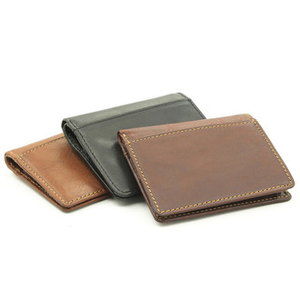 Prima Americano Front Pocket Credit Card Wallet PG413002 | Black, Brown, Honey