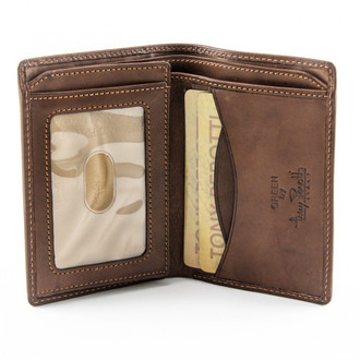 Prima Front Pocket Wallet with I.D. Window PG418220 | Color Brown