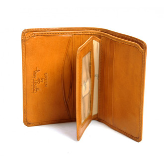 Prima Front Pocket Wallet with I.D. Flap Card Case PG418401 | Color  Honey | Open