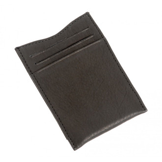Executive Money Clip with Credit Card Slots PC411001 Back Black