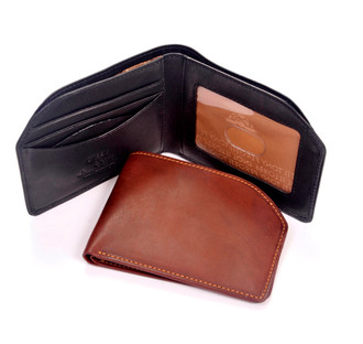 Tony Perotti Mens Italian Cow Leather Slim Front Pocket Bifold Edge Wallet