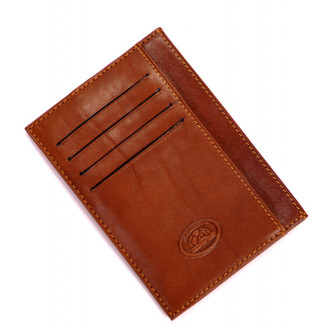 "Ultimo 5"" Credit Card Case with Pockets PI418503 Cognac Front"