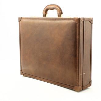 Venezia Grande Leather Attache Case| Color Brown