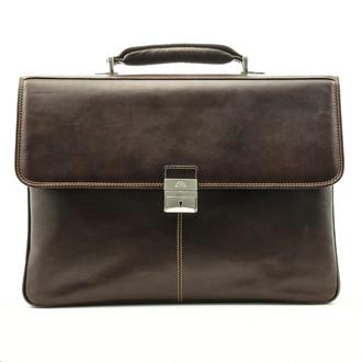 Tony Perotti Triple Compartment Briefcase - Brown